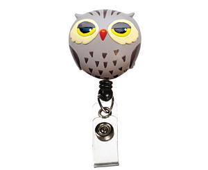 Deluxe Retracteze ID Holder, Owl, Print