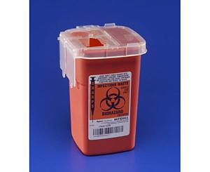 Phlebotomy Red Sharps Container - 1 Qt