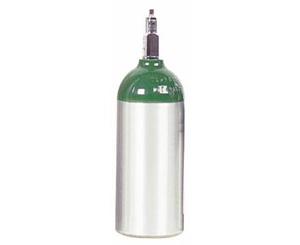 Aluminum Oxygen Cylinder, Size C / M9 w/ Toggle