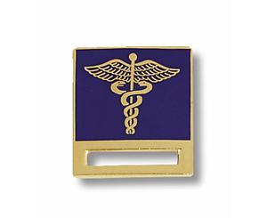 Caduceus on Blue Badge Tac