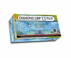 Diamond Grip Plus Latex Exam Gloves - Small , Box/100