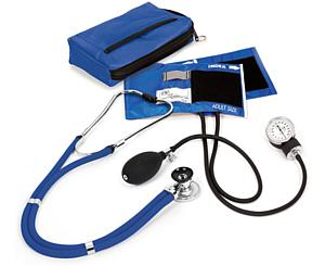 Aneroid Sphygmomanometer / Sprague-Rappaport Stethoscope Kit, Adult, Royal