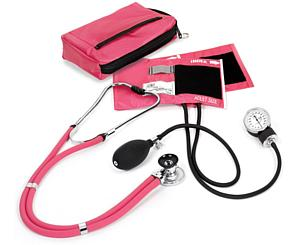 Aneroid Sphygmomanometer / Sprague-Rappaport Stethoscope Kit, Adult, Passion