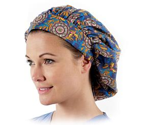 Nurse's Bouffant Style Scrub Caps, Assorted, Pack of 12