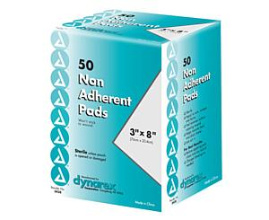 "Non Adherent Pads, Sterile, 3"" x 8"", Box/50"