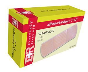 """Adhesive Bandages, 1"""" x 3"""", 50's"""