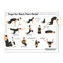 Yoga for Back Pain Pose Chart