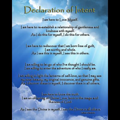 Art: Declaration of Intent - Blue Sky Edition