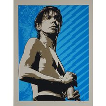 "Jeff Boyes ""Iggy Pop Blue"" Signed Screen Print"