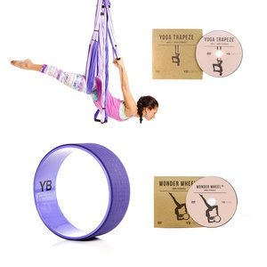 Purple Yoga Trapeze® and Purple Wonder Wheel Bundle